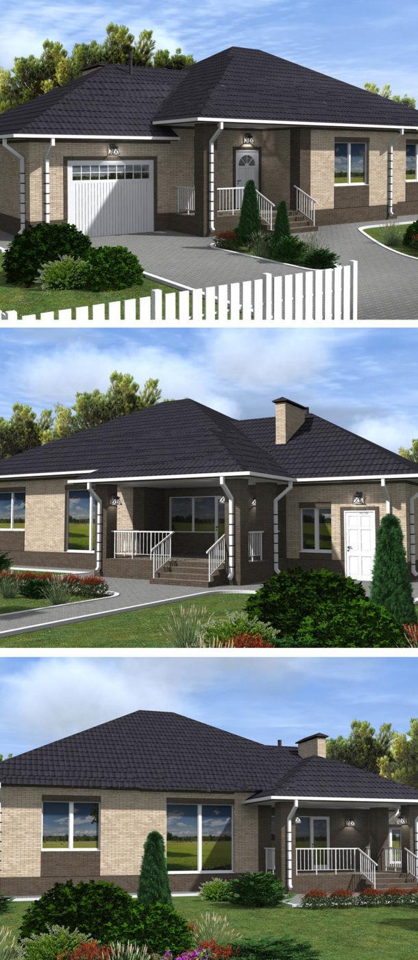 Проект одноэтажного дома Комфорт