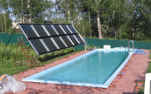 Солнечный коллектор для нагрева воды в бассейне