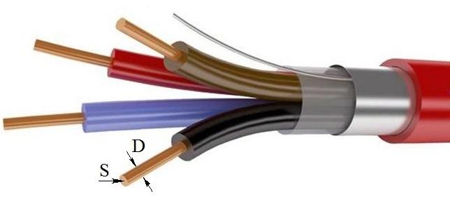 Как узнать сечение провода по диаметру