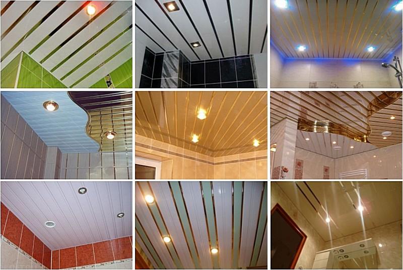 Примеры использования реечных потолков
