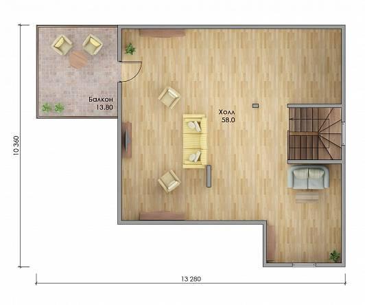 Проект каркасного дома Аризона