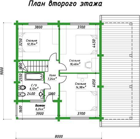Каркасный дома проекта Импала