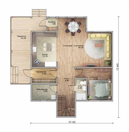 Каркасный дом проекта Лаваль