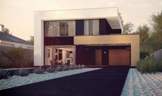 Проект каркасного дома в стиле Хай-тек