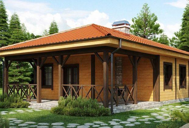 Проект каркасного дома с камином