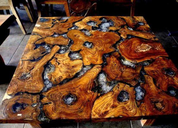 Авторская мебель из дерева и эпоксидной смолы. Второй такой же точно нет